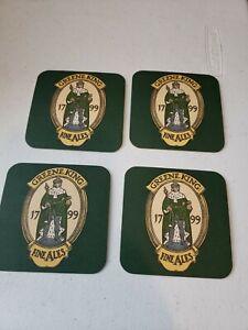 Lot of 4 VTG COASTER GREENE KING Fine Ales Since 1799  Bury St. Edmunds, England