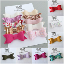 Girls Hair Bow Clip Baby Toddler Newborn Nylon Headband Piggy Tail  Accessory