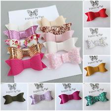 Girls Hair Bow Clip Baby Toddler Newborn Nylon Headband Piggy Tail  Accessory