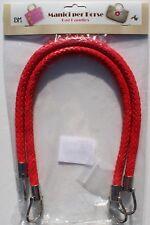 1 Paar hochwertige Taschengriffe Lederoptik Geflochten rot 55cm