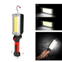 COB LED Inspection Work Light Camping Lamp Magnetic Flashlight Torch w/Hook