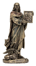 St.Luke Statue,Veronese,Lightly Hand-Painted Cold Cast Bronze
