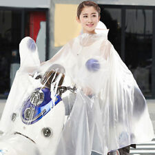 Transparent White Plastic PVC Vinyl Raincoat Poncho XL cycling festivals