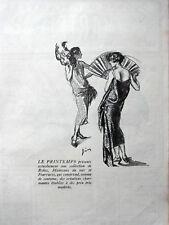 PUBLICITÉ DE PRESSE 1924 LE PRINTEMPS COLLECTION DE ROBES MANTEAUX FOURRURES