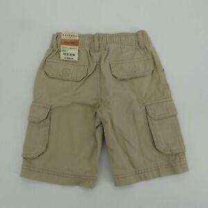 Arizona Boys Elastic Waist Beige Cargo Short 4