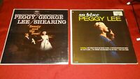 Peggy Lee Vinyl 2 x LP Record Album Lot / So Blue & Beauty and the Beat Bundle