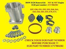 Full BMW EGR valve and cooler delete kit M47&M57 engines, Billet aluminum EGR