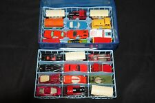 VINTAGE MATCHBOX/HOTWHEELS LOT WITH CARRYING CASE TANK, VW RABBIT! NM