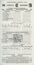 MIDDLESEX v NORTHANTS LORDS AUGUST 1989 CRICKET SCORECARD