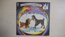 Disneyland Records Walt Disney's LADY AND THE TRAMP 45 RPM 1962