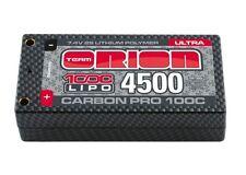 Team Orion 14068 Carbon Pro Ultra 7.4V 4500mAh 100C 2S LiPo Battery Shorty Pack
