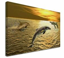 More details for gold sea sunset dolphins x-large 30