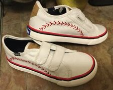 "KEDS DOUBLE UP SNEAKER""Pennant  Baseball Velcro"" Unisex Sz. 12 NEW"