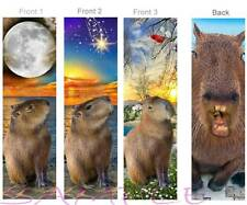 3-Capybara Bookmark Brazil Large Rodent Exotic Pet Art Book Card (Giant Hamster)