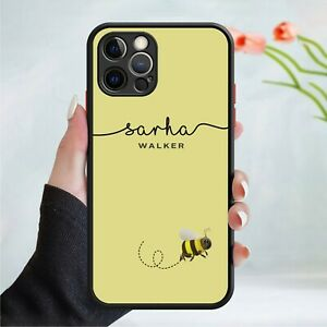 Personalised Queen Bee Gel Phone Case Cover For All Apple iPhone Models 174-4