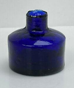 Lovely Blue Round Ink Bottle Lot#1