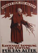 Original Plakat - Kantonale Sammlung der Stiftung - Für das Alter