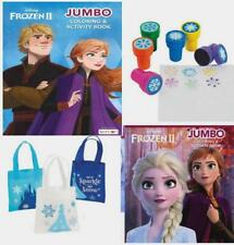 Disney Frozen Coloring Book 2 Books Stampers and Mini Tote for Kids
