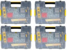 (4) ea Stanley Tools STST14022 Sort-Master Junior Small Parts Storage Organizer