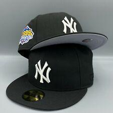 New York Yankees World Series 1999 59FIFTY New Era MLB Black Hat Gray Bottom