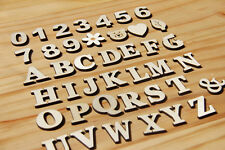 41PCS Wooden Mini self-adhesive Letter Alphabet Word Number For Decoration DIY