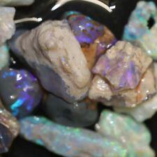 120 cts Australian Solid  Opal Rough Lightning Ridge Plant Fossil Parcel