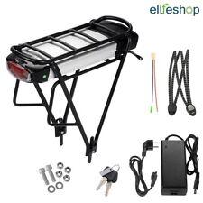 36V 12,5Ah Batteria Bici Litio per V-brake E-bike + Portapacchi + Caricabatteria