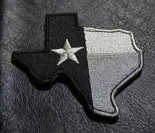 TEXAS STATE MAP FLAG  TACTICAL MORALE SWAT hook ACU SLVR PATCH
