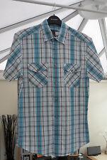 Mens Check Cotton Short Sleeve Shirt  H&M Size S - Excellent condition