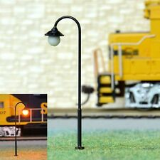 s813- 10 pcs Streetlights 5,5cm with LED 12-19V Park Lights Arched Lamp