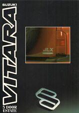 Suzuki Vitara 1.6 JLX 5-dr Estate 1991-92 UK Market Foldout Sales Brochure