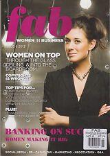 Fab Magazine Women In Business #6 2013, WOMEN ON TOP.