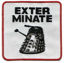 Doctor Who. EXTERMINATE tv Embroidery Iron on Patches