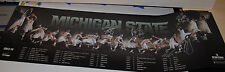 2013-14 Michigan State Spartans TEAM SIGNED mens basketball schedule poster c