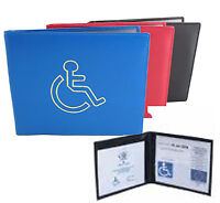 Disable Badge Cover Case Display Permit Holder Wallet Protection Car Parking PU