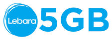 D1 Telekom Netz Lebara mobile Prepaid Karte 5GB Daten Paket 1. Monat inklusive
