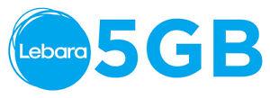 5 GB Datenvolumen ✔ D1 Telekom Netz✔  Ohne Vertrag ✔ Prepaid ✔ Lebara mobile ✔