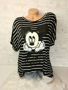 Italy New Collection Mouse T-Shirt Mickey Gr.38 40 42 44 blogger Oversized black