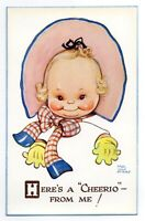 "Mabel Lucie Attwell 1940's POSTCARD 999 ""HERE'S A CHEERIO FROM ME!"" Unposted"