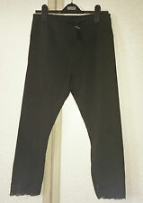 Hollister Black Lace Trimmed Crop Leggings Size M BNWT RRP £29