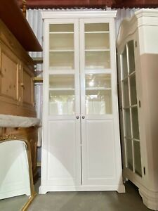 White Ikea Display Cabinet / Cupboard with Glazed Front