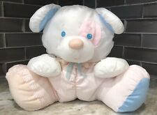 Vintage 1980s Fisher Price Puffalumps White Puppy Dog Mouse Bear Rattle Plush