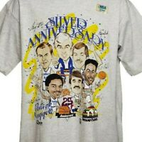 Denver Nuggets T Shirt Vintage 90s Caricature 25th Anniversary Made In USA Large