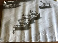 Tiananmen Square Tank Man Unknown Protester Chinese Tanks Poster Vintage 23908
