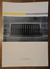 LINCOLN TOWN CAR orig 1994 USA Mkt Large Format Sales Brochure - Cartier Exec