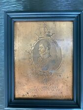 19TH C. ANTIQUE COPPER  PRINTING PLATE  FERNANDO VII KING OF SPAIN