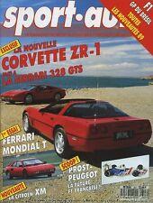 SPORT AUTO n°327 AVRIL 1989 avec encart et poster FERRARI MONDIAL & 328 GTS