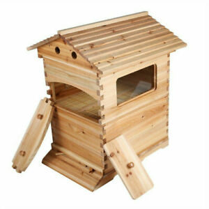 Upgraded Wooden Beekeeping Beehive House FOR 7PCS Auto Flow Bee Comb Hive Frames
