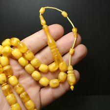 New Stylish Yellow Prayer Beads Tesbih Muslim Rosary Islam Tasbih Tasbeeh 197