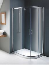 Luxury Offset RH Curved Sliding Shower Enclosure 1000x800mm Silver 6mm Glass